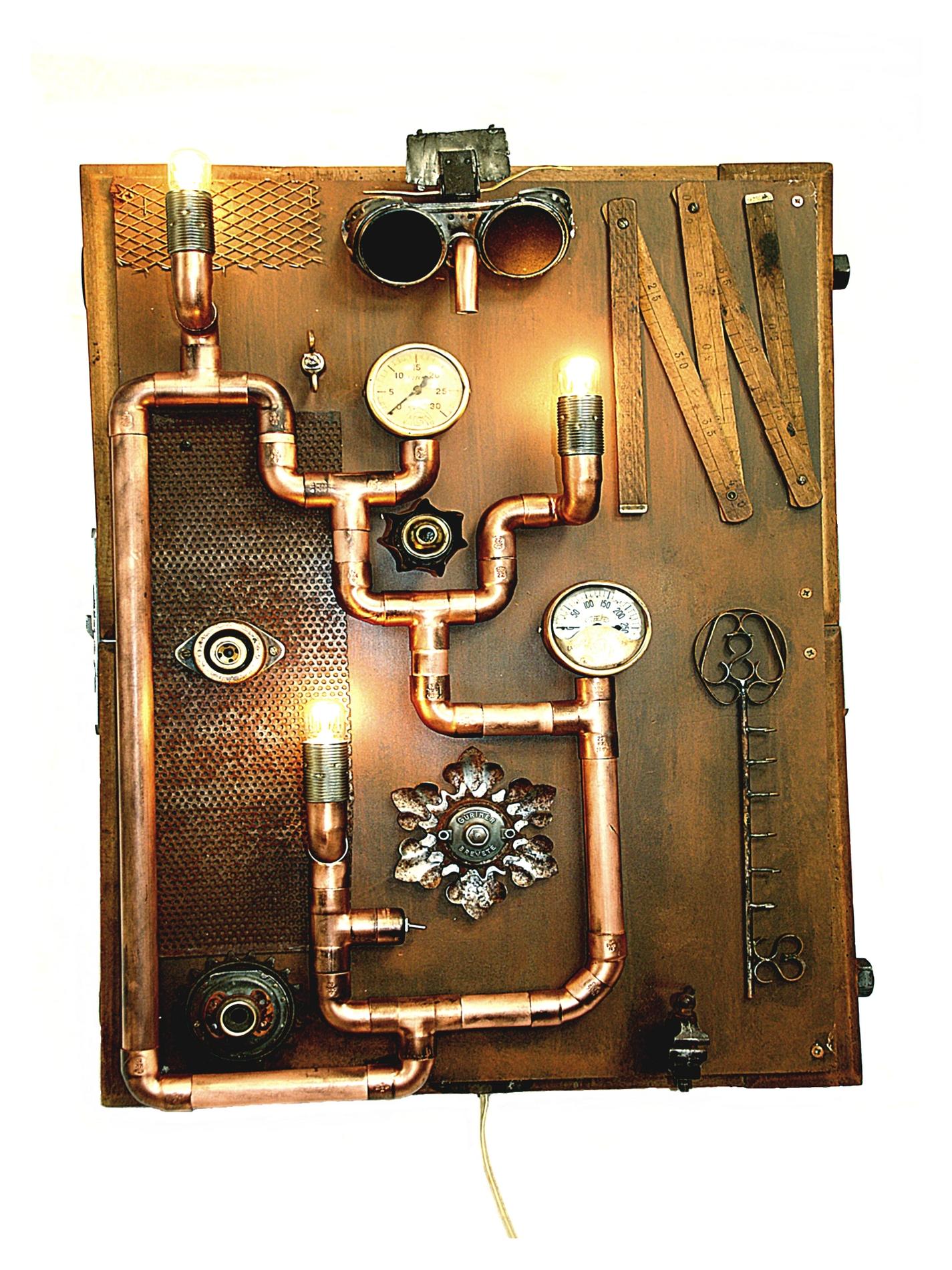 Tableau Steampunk - De fer et d'âme